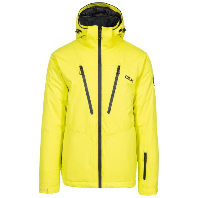 Banner Men's DLX Waterproof RECCO Ski Jacket in Neon Green