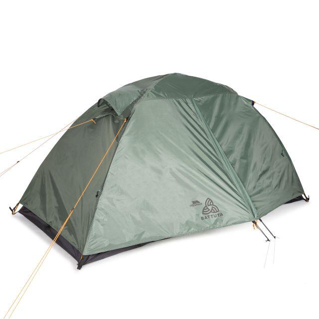 Battuta 2 Person Waterproof Backpacking Tent in Khaki, Front view