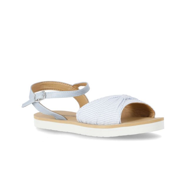 Baye Women's Sandals in Light Blue, Angled view of footwear