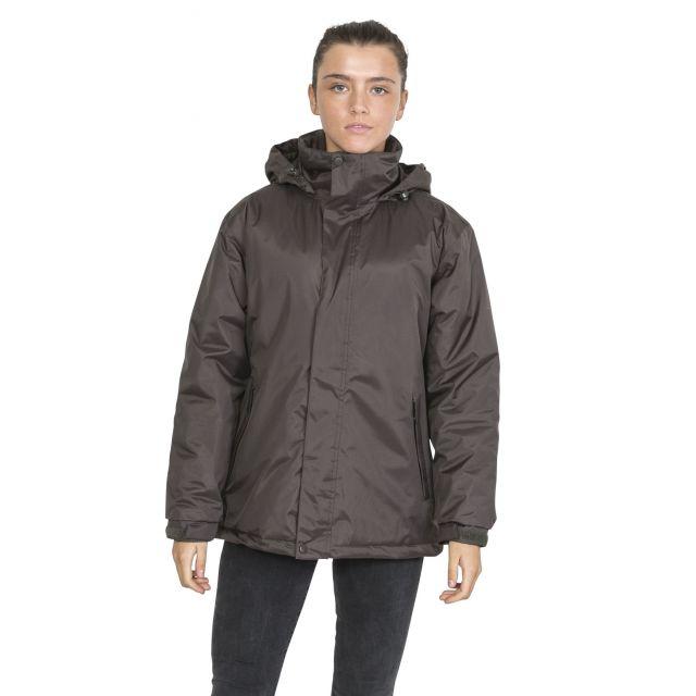 Trespass Womens Waterproof Jacket Padded Bayfield Khaki