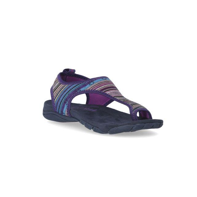 Beachie Women's Walking Sandals in Purple, Outside view of footwear