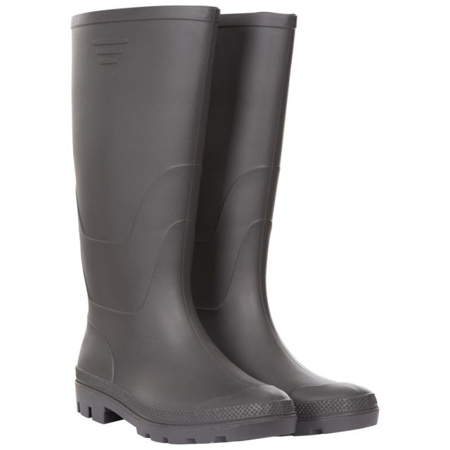 Trespass Men's Knee Length Welly Boots Beck Grey