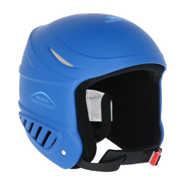 Belker Kids' Ski Helmet in Blue, Fastening detail of helmet