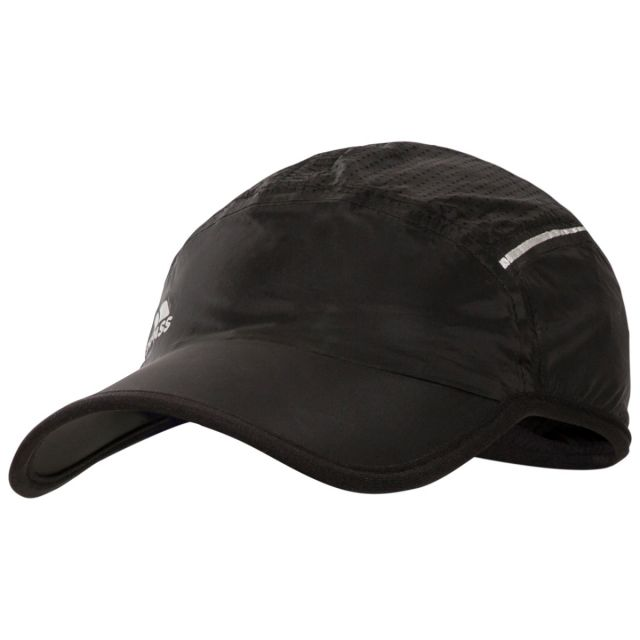 Benzie Adults' Adjustable Baseball Cap in Black, Hat at angled view