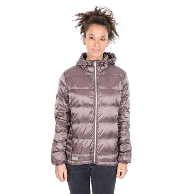 Trespass Womens Down Jacket with Hood Bernadette Light Purple