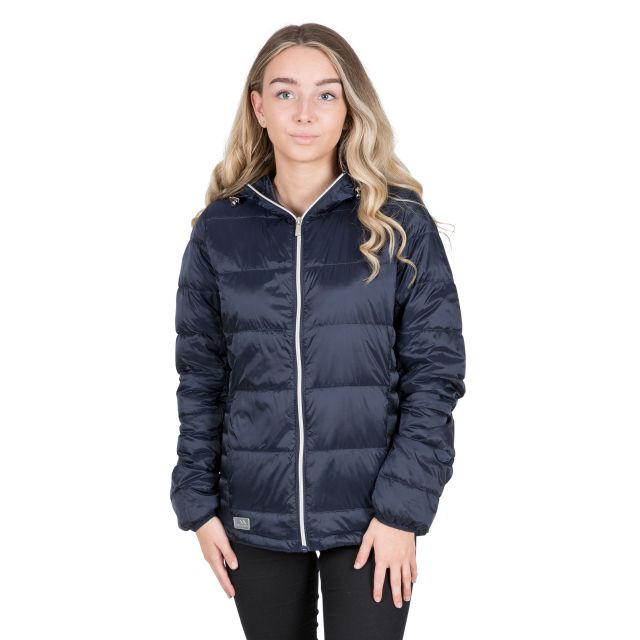 Trespass Womens Down Jacket with Hood Bernadette Navy