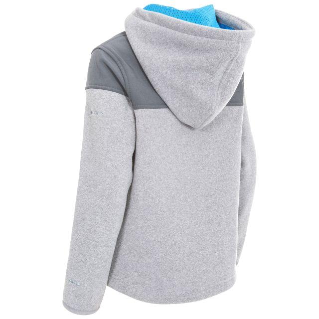 Trespass Kids Full Zip Fleece Hoodie in Grey Bieber