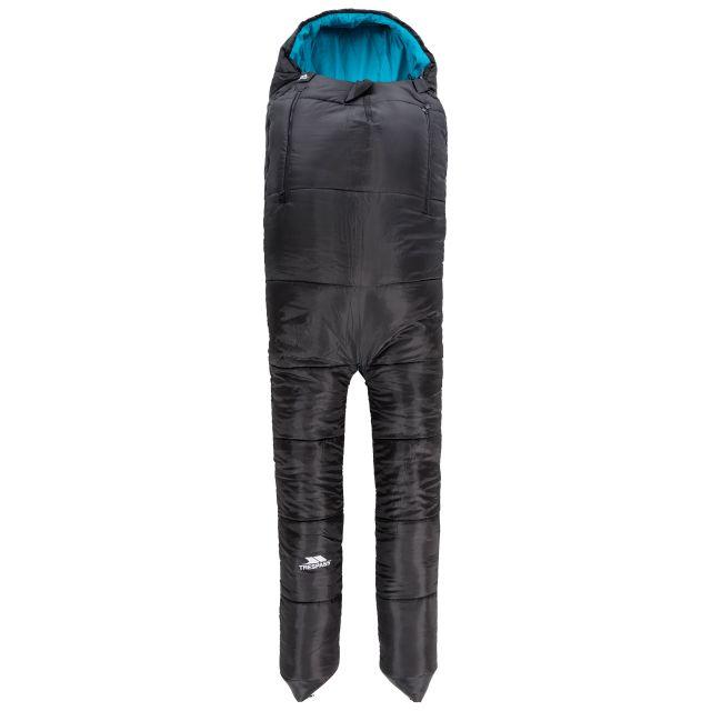 BIPOD - 2 WAY SLEEPING BAG in Black, Front view