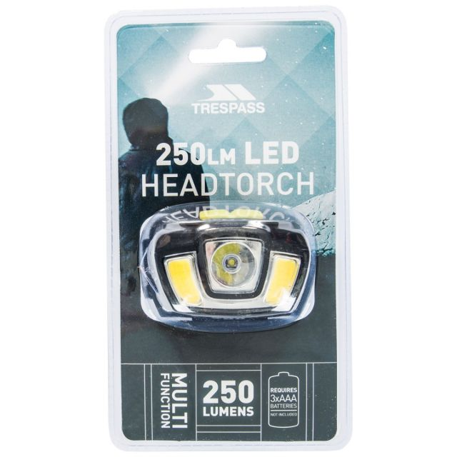 250lm LED Head Torch in Black