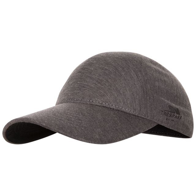 Blaze Adults' Baseball Cap in Grey, Hat at angled view