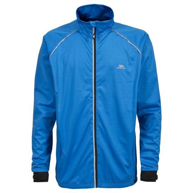 Blocker Men's Waterproof Active Jacket in Blue, Front view on mannequin