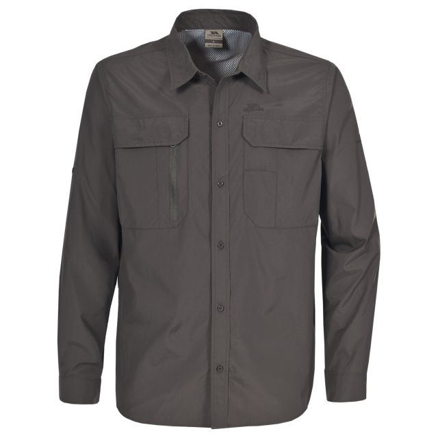 Bonar Men's Long Sleeve Shirt in Khaki