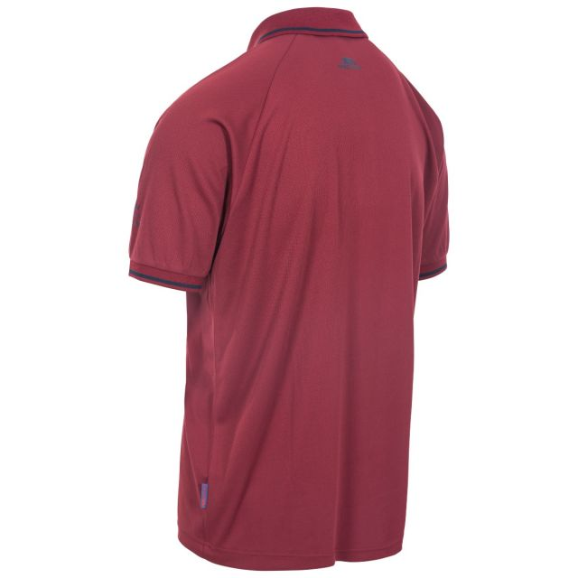 Bonington Men's Quick Dry Polo Shirt in Red