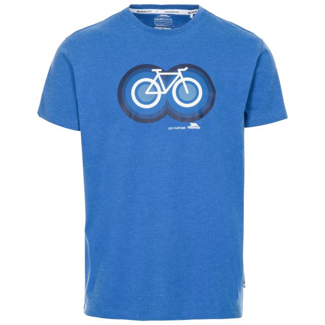 Bonnhilly Men's Printed T-Shirt in Blue, Front view on mannequin