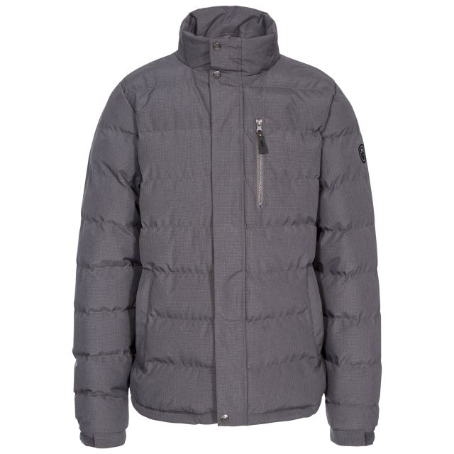 Boyce Men's Padded Jacket in Light Grey, Front view on mannequin