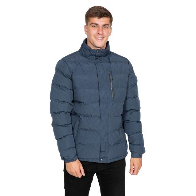 Boyce Men's Padded Jacket in Navy, Back view on model