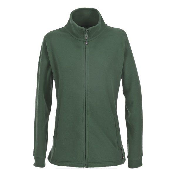 Boyero Men's Fleece Jacket in Green, Front view on mannequin