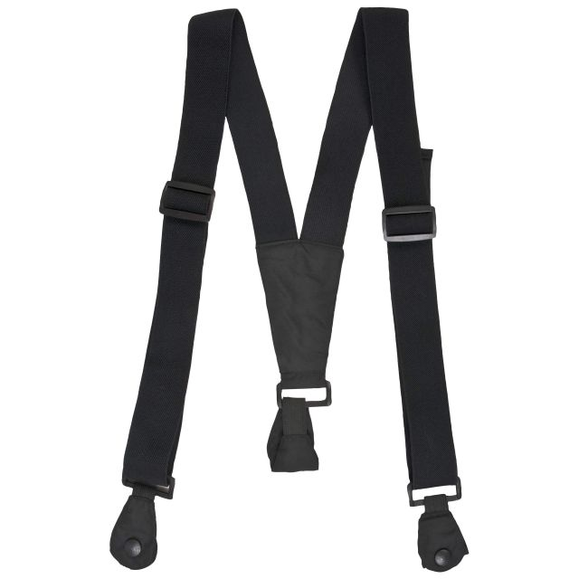 Trespass Adults Black Ski Pants Braces in Black