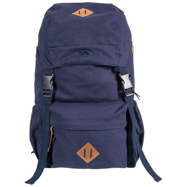 Braeriach 30L Canvas Backpack in Navy, Front view
