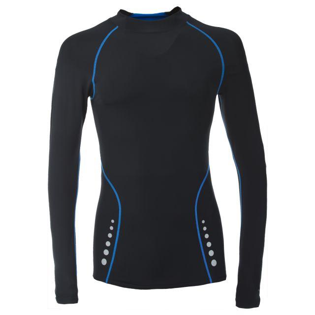 Trespass DLX Mens Black Quick Dry Long Sleeve Active T-Shirt Brawn