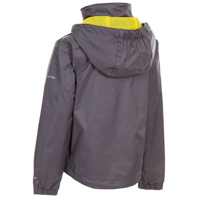 Trespass Kids Waterproof Jacket with Hood Breathable in Carbon Briar