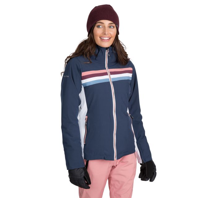 Trespass Womens Ski Jacket Waterproof Broadcast in Navy