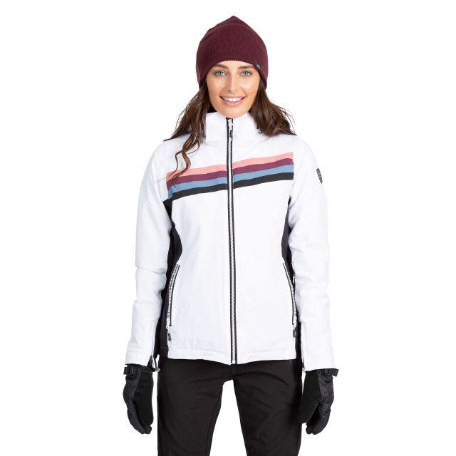 Trespass Womens Ski Jacket Waterproof Broadcast in White