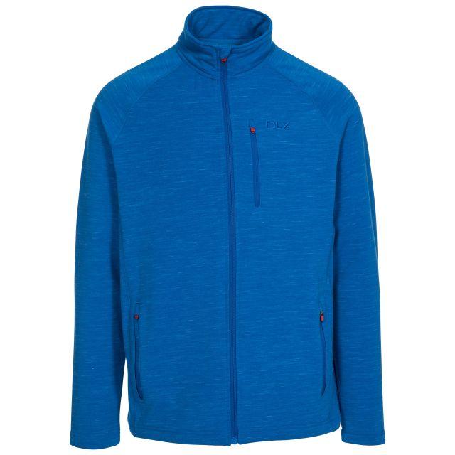 Brolin Men's DLX Fleece Jacket in Blue, Front view on mannequin