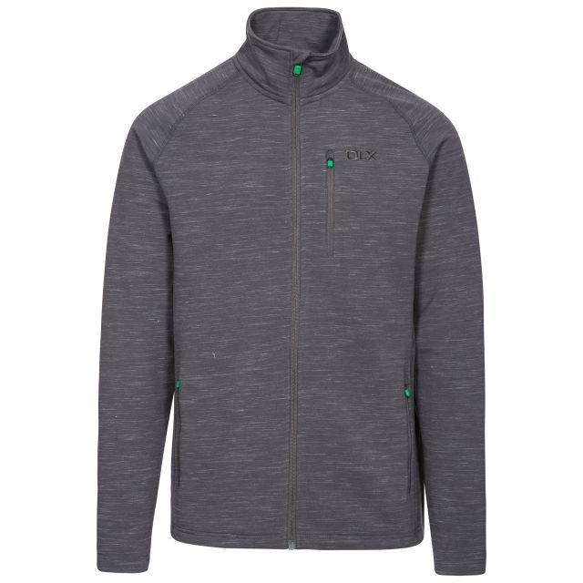 Brolin Men's DLX Fleece Jacket in Light Grey, Front view on mannequin