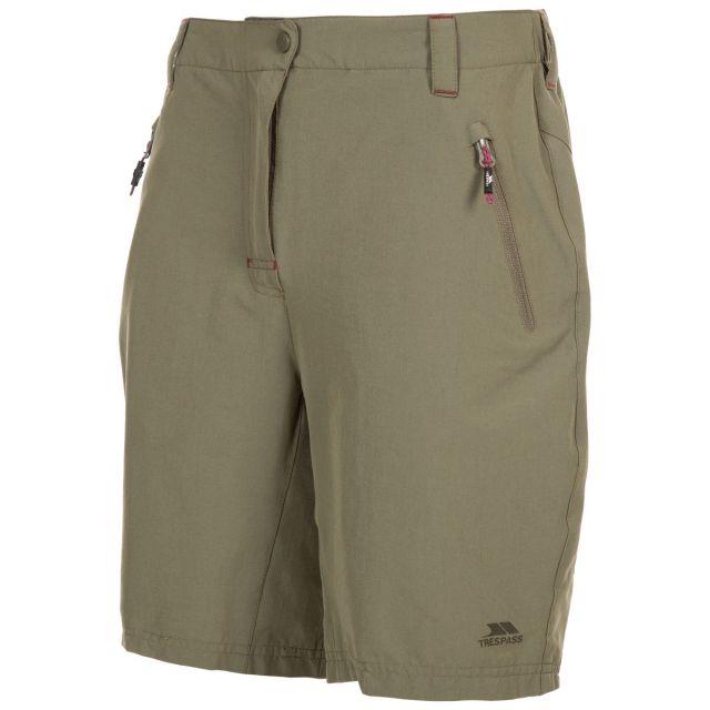 Brooksy Women's Quick Dry Active Shorts in Khaki