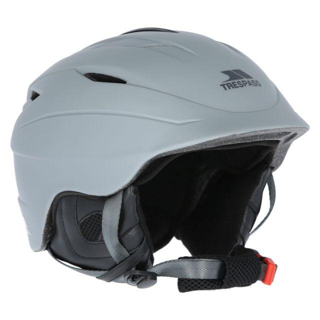 Buntz Adults' Ski Helmet in Grey, Fastening detail of helmet
