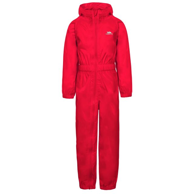 Button Kids' Rain Suit in Red