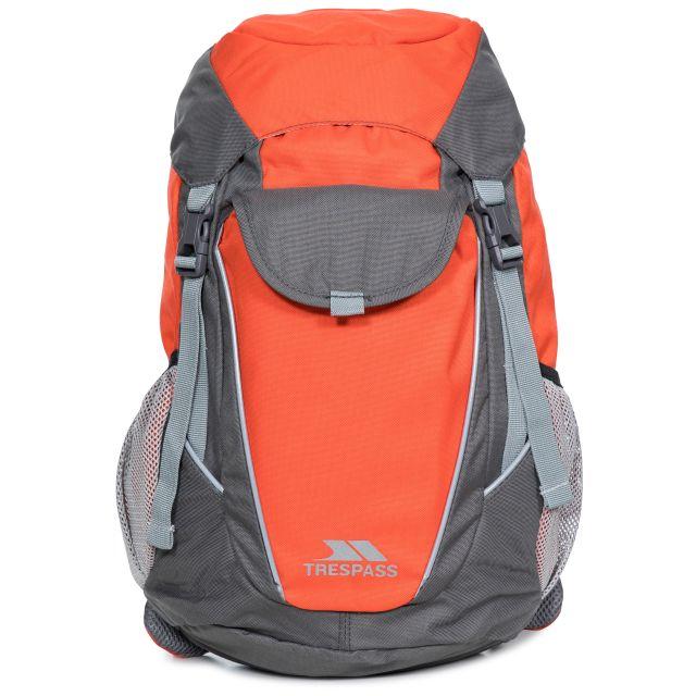 Buzzard Kids' 18L Backpack in Orange, Back view
