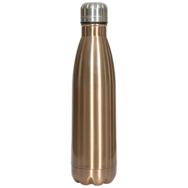 Insulated Stainless Steel Water Bottle 500ml in Brown