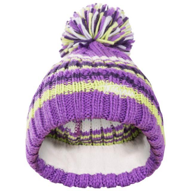 Trespass Kids Bobble Hat in Light Purple Candy