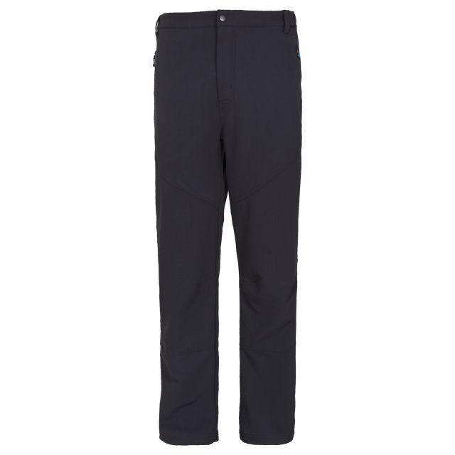 Canyon Men's DLX Walking Trousers in Black, Front view on mannequin