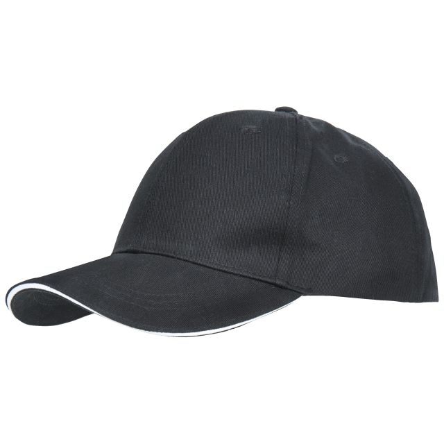 Carrigan Adults' Baseball Cap in Black, Hat at angled view