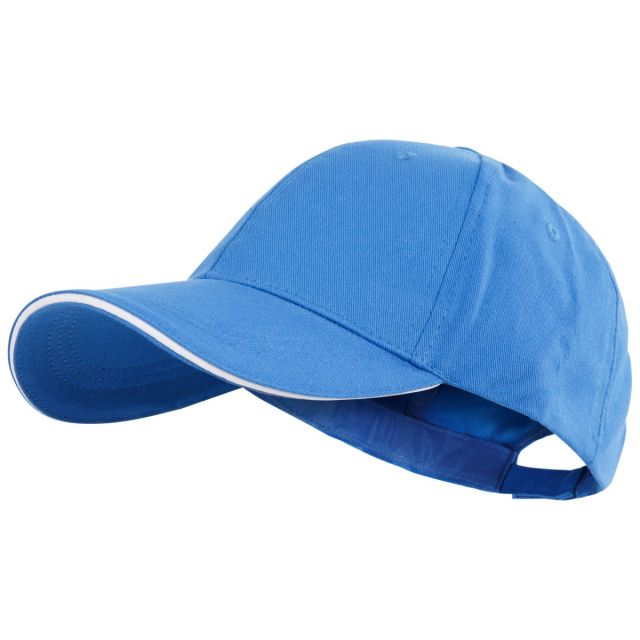 Carrigan Adults' Baseball Cap in Blue, Hat at angled view
