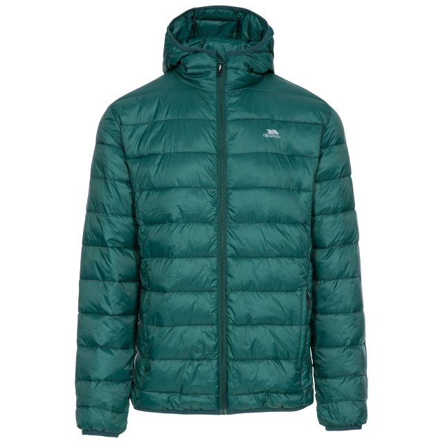 Carruthers Men's Padded Casual Jacket in Green, Front view on mannequin