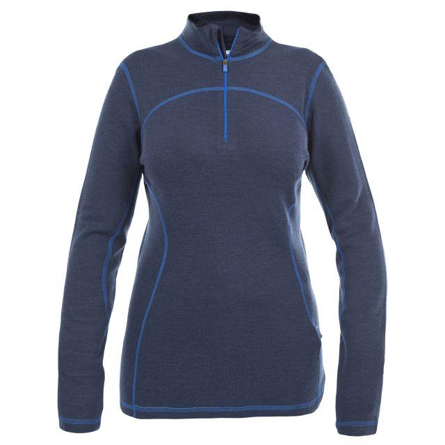 Trespass Womens Merino Base Layer Top Cass in Blue
