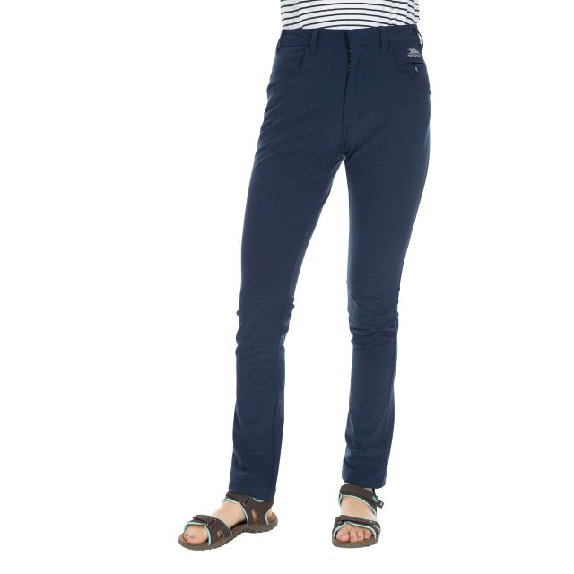 Catria Women's Slim Leg Walking Trousers in Navy