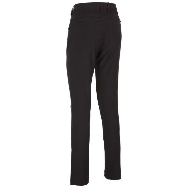Catria Women's Slim Leg Walking Trousers in Black