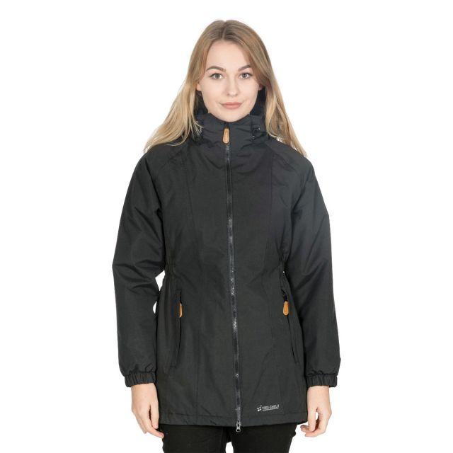 Celebrity Women's Fleece Lined Parka Jacket in Black