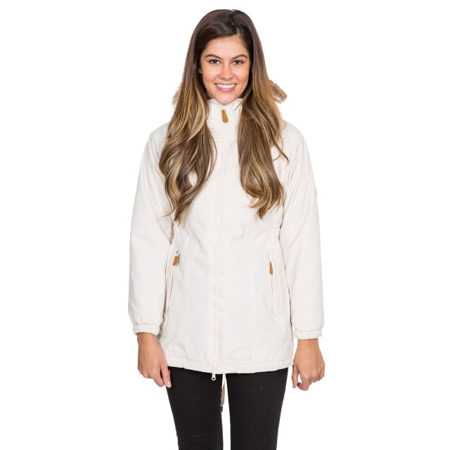 Celebrity Women's Fleece Lined Parka Jacket in Tan