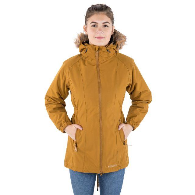 Celebrity Women's Fleece Lined Parka Jacket in Yellow