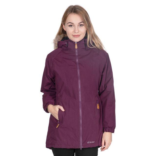 Celebrity Women's Fleece Lined Parka Jacket in Purple