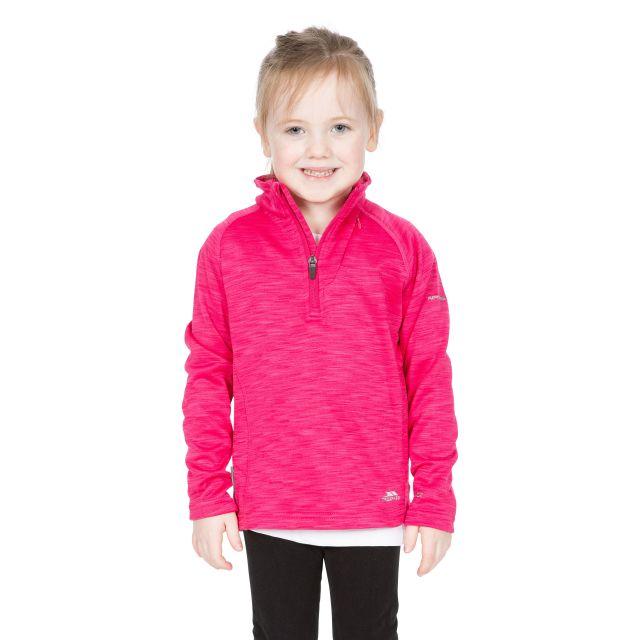 Trespass Kids Half Zip Fleece in Pink Celina