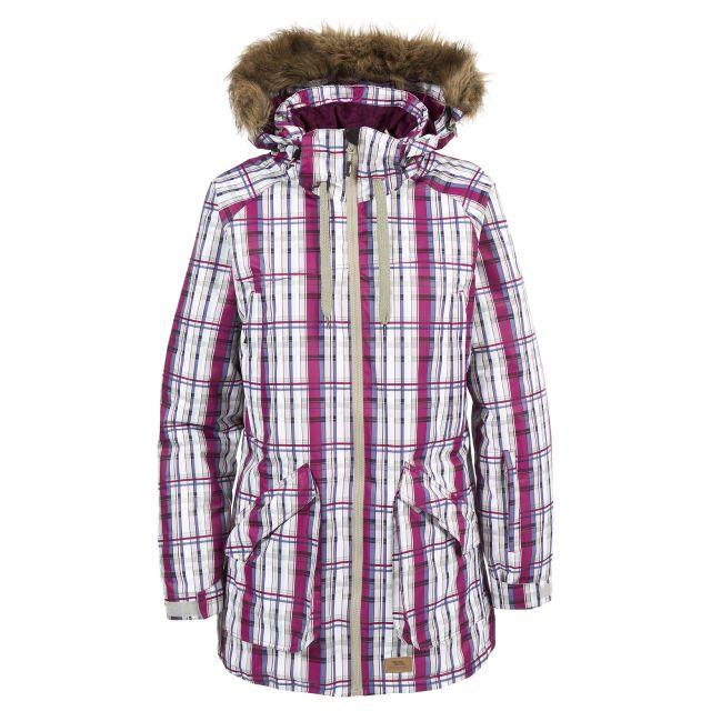 Chima Womens Faux Fur Trim Ski Jacket in Pink