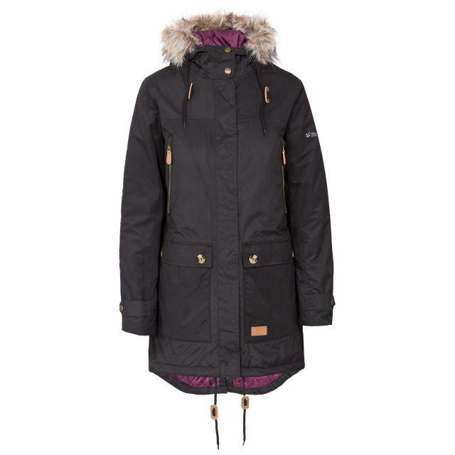 Clea Women's Waterproof Parka Jacket in Black