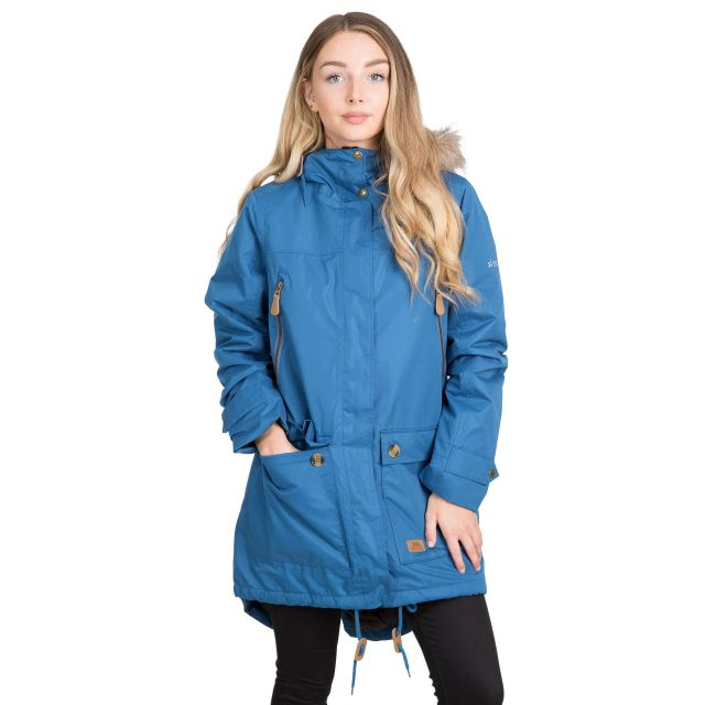 Clea Women's Waterproof Parka Jacket in Blue